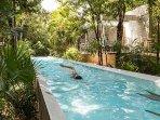 Salt water lap pool.