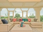 Majestic - Large Windows form Panoramic Ocean and Cliffside Views - Large sectional sofa