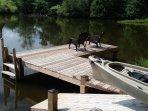 Easy canoe launching and return