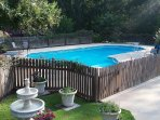 40,000 gallon Salt-System (Low Chlorine) Pool with Diving Board