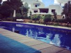 View of villa from pool