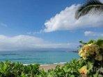 We love Napili Bay with views of Molokai.