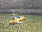 Kayak en el río Achibueno