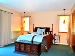 Master bedroom with own bath.  Bath has a jaccuzzi  tub.  Large 12 ft mirroer closet,