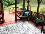 Screened in gazebo by the creek. Read,relax or just enjoy the sound of birds and water rushing