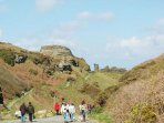 Tintagel Path to beach and King Arthurs Castle