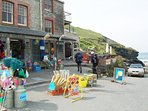 Trebarwith strand - beachside shop