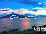 Example of running trail from Atitlan Sunset Lodge