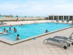 Pavilion's newly renovated heated pool and sun decks.