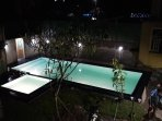 Night view of swimming pool