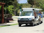 One of many shuttles available to access Bahia Principe's 4 different 5 star Resorts