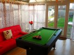 Pool table in the conservatory