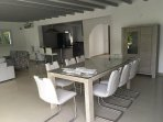 7 Dining table with seating for eight