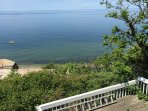 Deck and Long Island Sound view