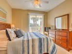 A plush king bed and flat-screen cable TV make you feel right at home in the master bedroom.