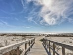 Follow the boardwalk down to the pristine beaches of Dauphin Island!