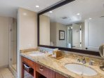 It's the perfect space to wash the day away in the stand-alone shower.