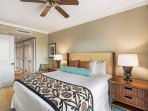 Take a vacation from your vacation in the calming Master Bedroom.