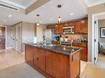 The fully stocked kitchen is perfect for fixing family meals at home.