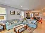 Abundant furnishings allow everyone to unwind in comfort.