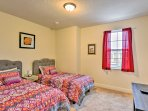 This bedroom features 2 twin beds, perfect for siblings or friends.