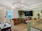 Living area offers a flat screen TV for you do enjoy your football