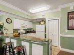 Fully equipped kitchen with great views