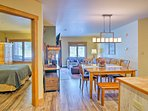 Take a couples retreat to a condo with plenty of open-concept space and ski-town charm.