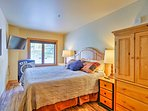 Tune into your favorite shows on the flat-screen  satellite TV in the master bedroom.