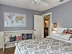 The second bedroom (Land of Hope and Glory) offers a comfortable  queen bed.