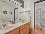 Get freshened up in the 3rd full bathroom.