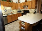 Fully equipped Kitchen, Stainless  Steel Appliances.