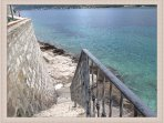 Stairs leading to closest beach 2 minutes walk