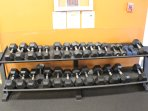 Dumbbells in the Fitness Room