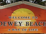 Welcome Sign in Dewey Beach.