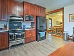 Newly remodeled, the kitchen is fully equipped for all of your cooking needs.