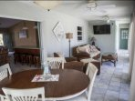 Family room located off of the formal dining space, with seating for up to 4 guests