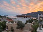 View over Kalamar Bay from the swimming pool terrace