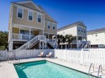 Your large private pool.  Beachside Blessings is one side of a duplex, but this pool is for your exclusive enjoyment.