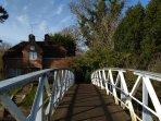 Winnie the Pooh's Poo Sticks bridge, Days Lock, Dorchester on Thames