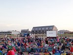 Free Monday Night Movies on the Beach, 1 block South of Bellevue Sands Suite.