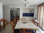 Nice open kitchen with stainless appliances