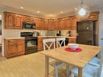 The fully equipped kitchen has plenty of counter space.