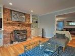 On cooler New York evenings, turn up the beautiful brick wood-burning fireplace!