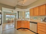 Whip up delicious home-cooked meals in the fully equipped kitchen!