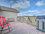 Enjoy relaxing evenings on your spacious deck relishing the views of the forested surroundings.