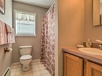 Stay fresh for daily exploits in the full bathroom with a shower/tub combo!