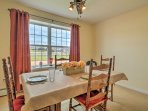 Share delicious meals in the dining area with seating for up to 6!