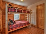 There are 3 bedrooms upstairs with 2 additional bedrooms on the lower level.