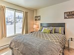 Come nighttime, this home boast a lovely bedroom.